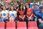 На стадионе