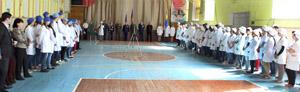 Торжественная линейка, посвященная Дню Победы