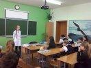 Ейский медицинский колледж продолжает работу по профориентации школьников.