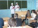 Проведение профориентационной работы  студентами-волонтёрами.